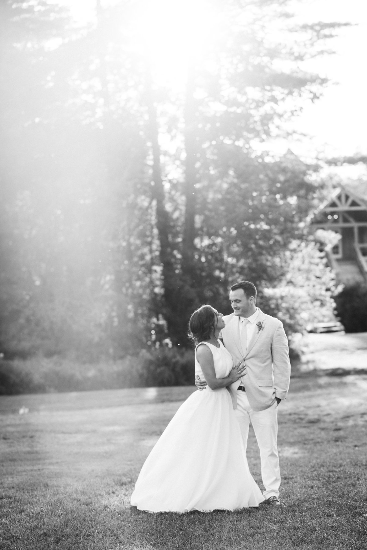 bride and groom portrait black and white, Vermont wedding photographer and videographer