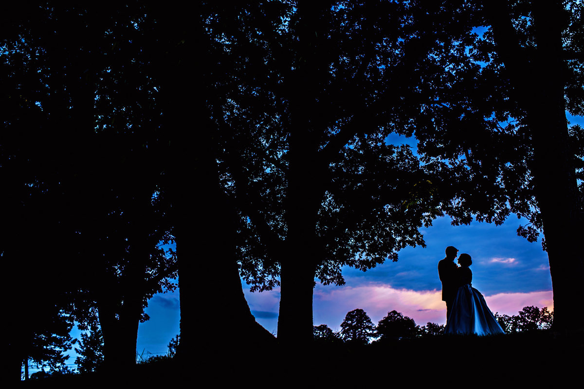 An epic sunset portrait from The Manor House at Prophecy Creek Wedding.