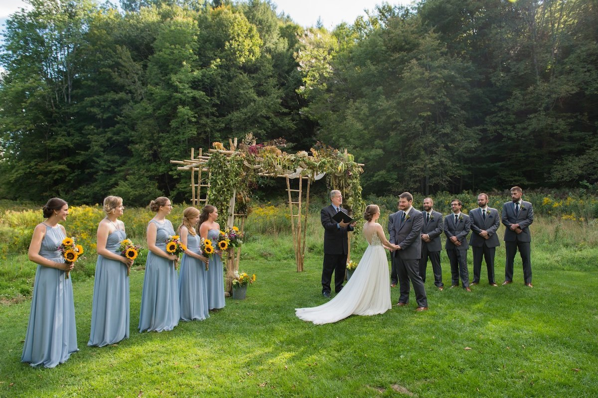 photographer for Vermont outdoor wedding ceremony