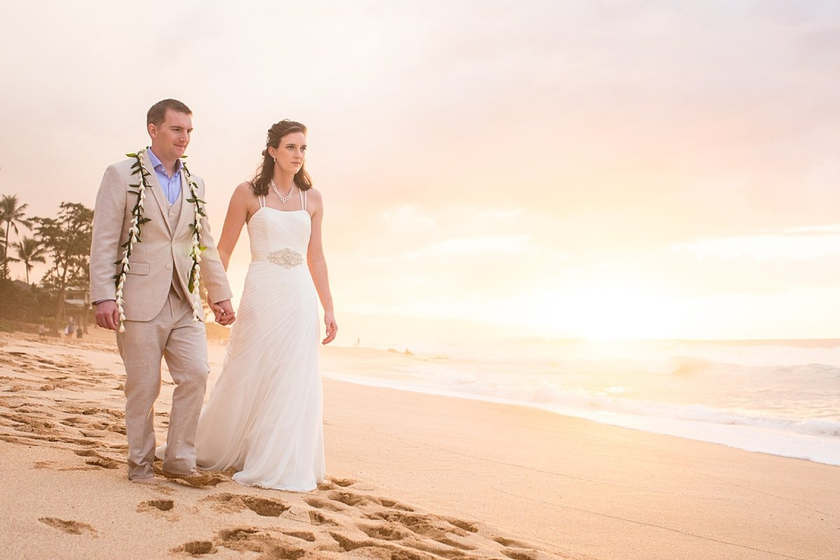 Sunset Beach Oahu Hawaii Wedding_115