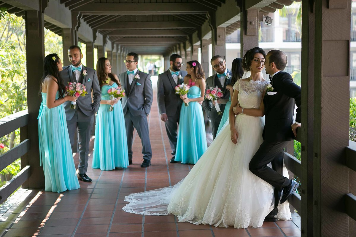 Bridal Party Photography at Langham Hotel Pasadena
