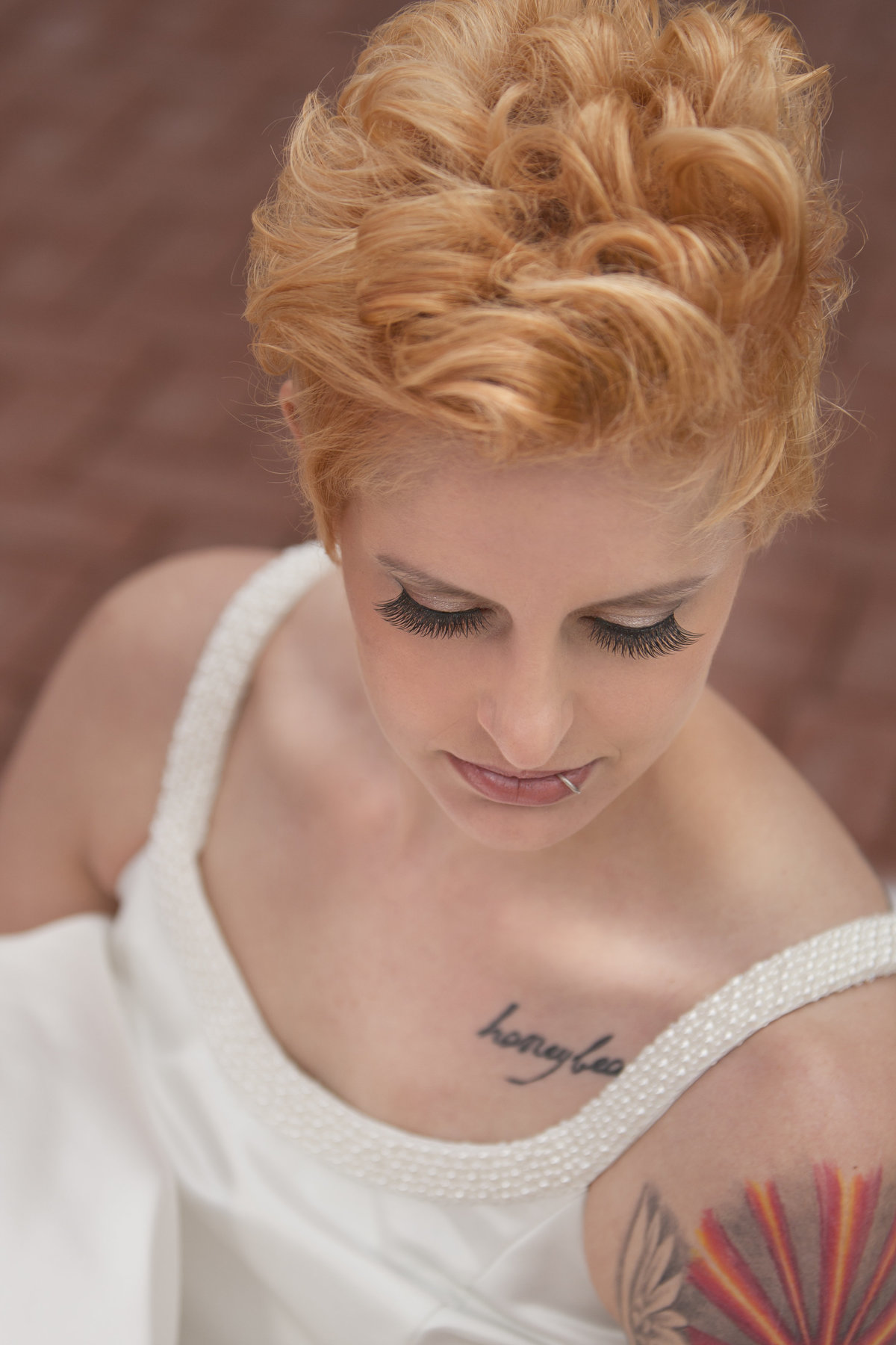 Gorgeous tattooed bride bridal portrait by Casi Lea Photography-green bay wedding photographer-door county wedding photographer-milwaukee wedding photographer-appleton wedding photographer-wisconsin weddings