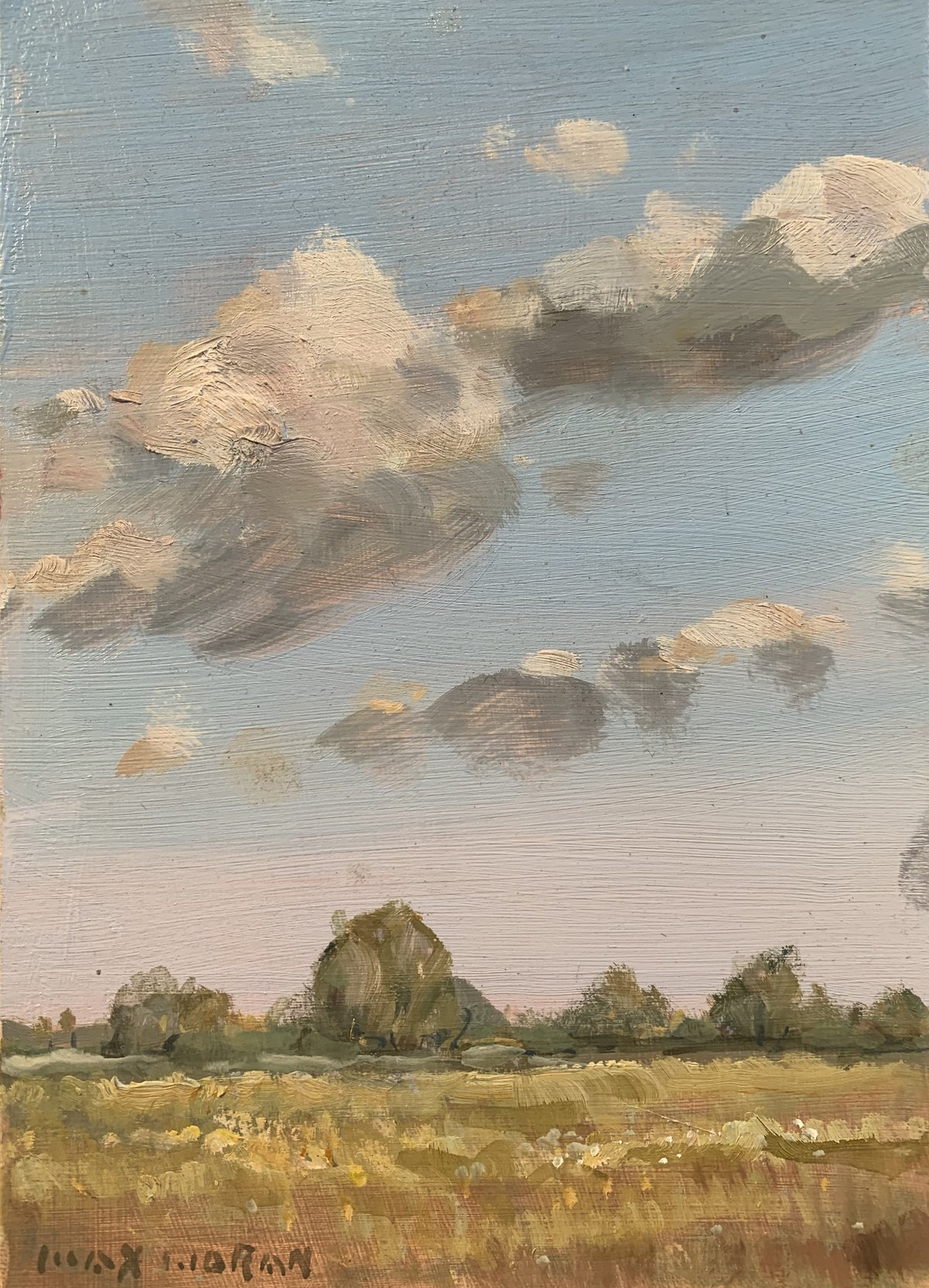 Passing Clouds 5x7 oop 1,000