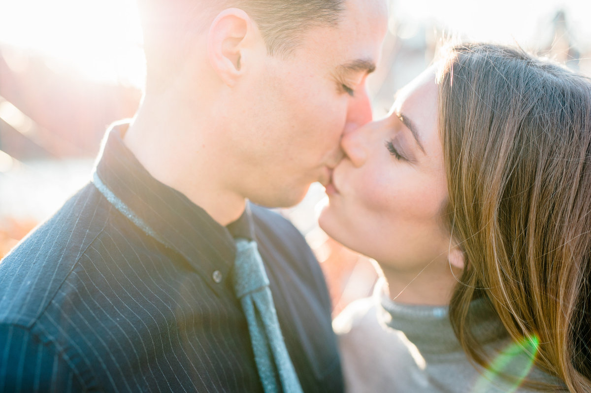 Bentonville and Fayetteville Engagement and wedding photographer, NWA wedding and engagement photographer, engaged couple in love kissing, engagement photo inspiration-43