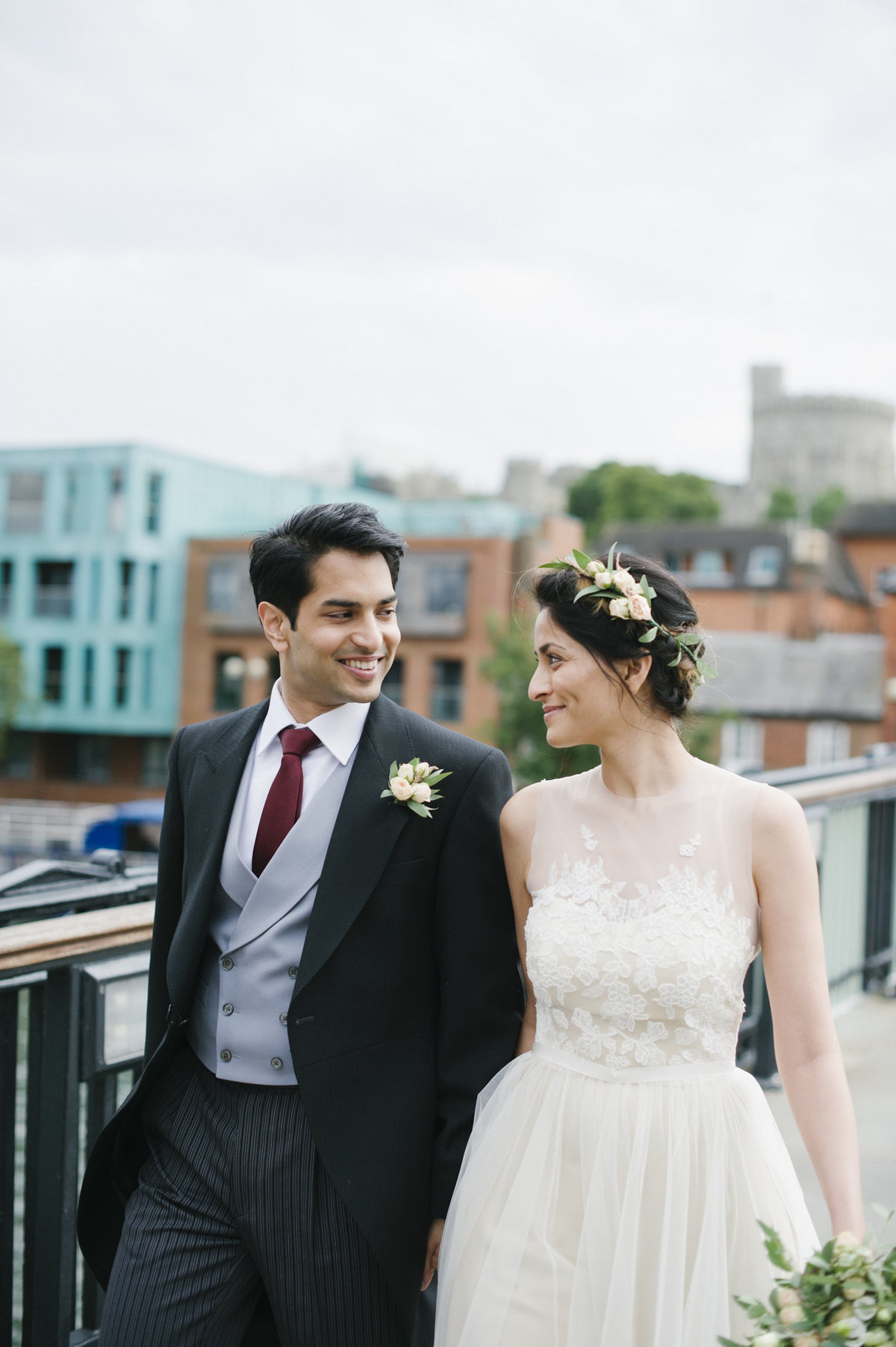 bride and groom civil ceremony windsor