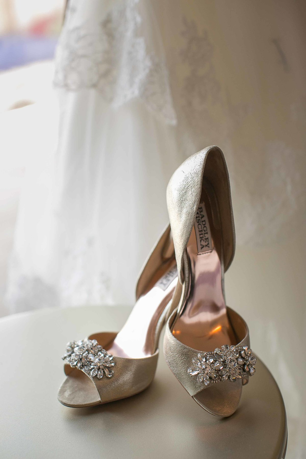 Badgley Mischka Gold Shoes