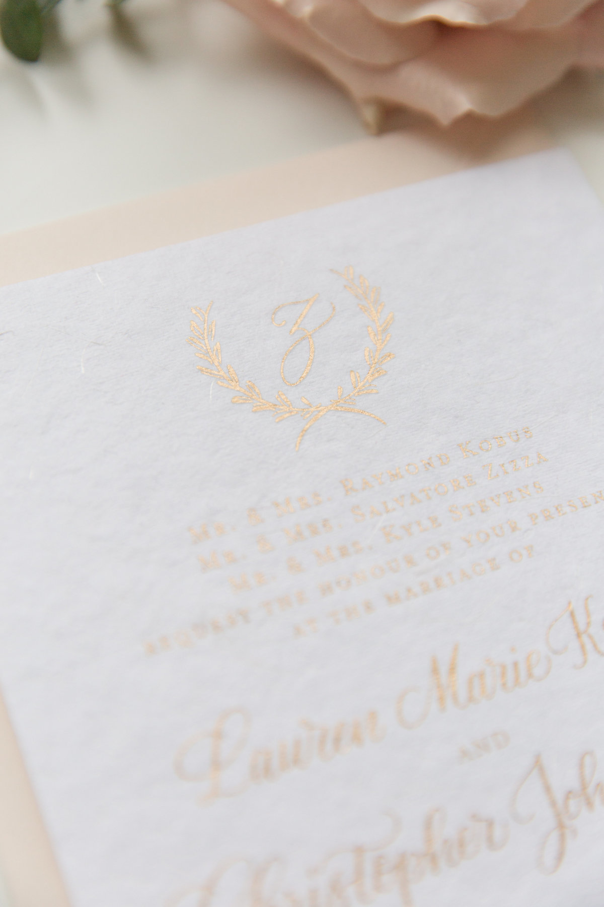 Lewes Lettering co gold ink calligraphy on white paper