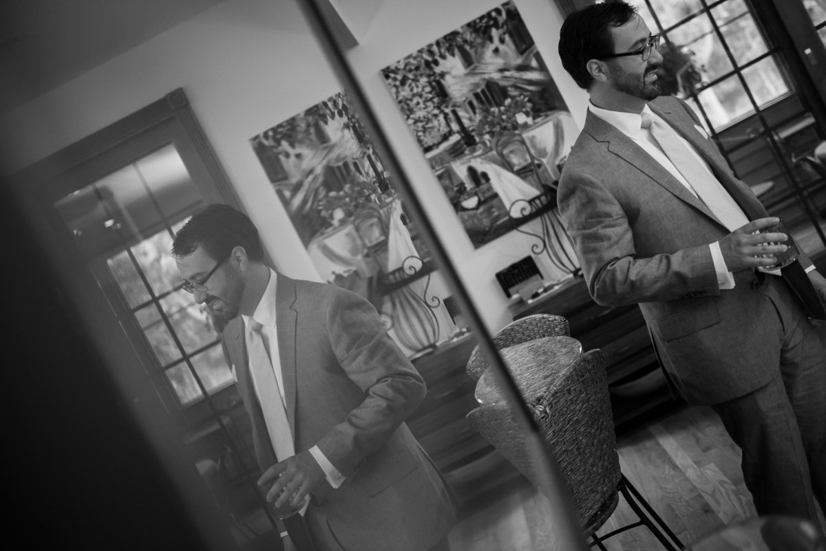 Brooklyn Wedding Photographer | Rob Allen Photography | Destination Wedding Photographer at Mt. Sinai New York groom getting ready