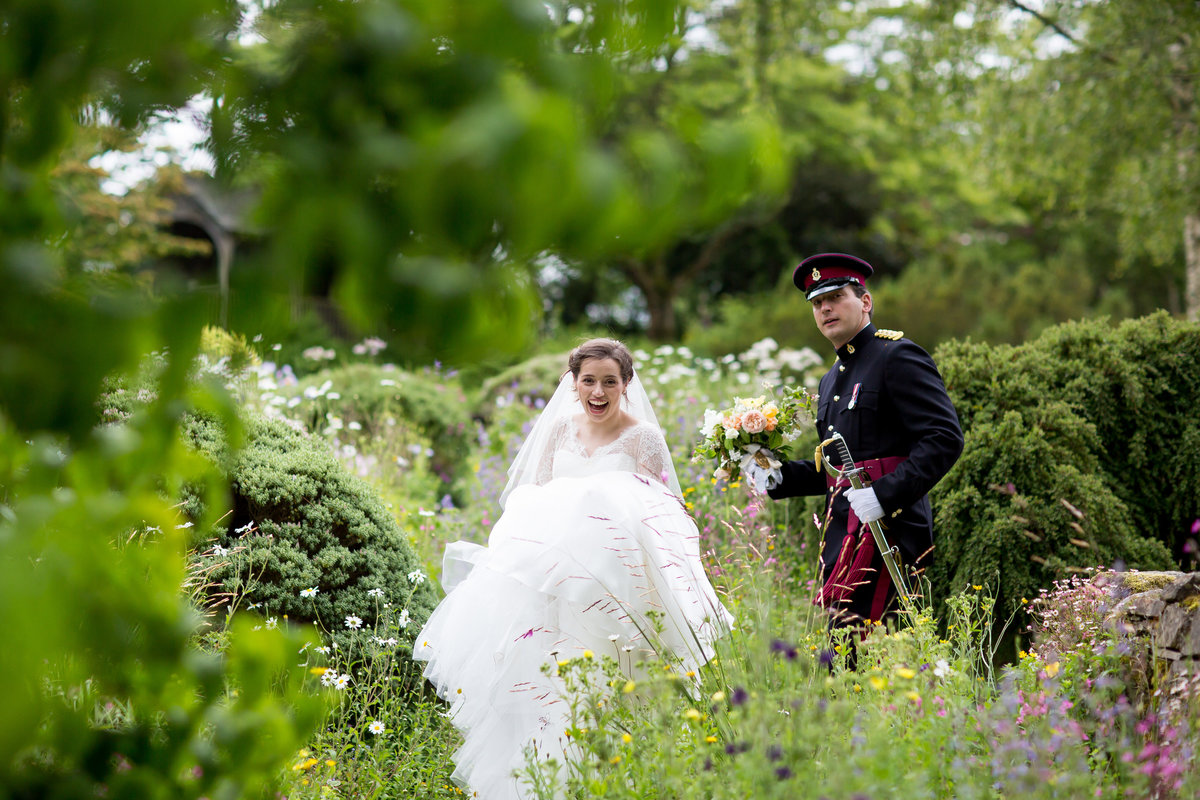 army wedding in devon village