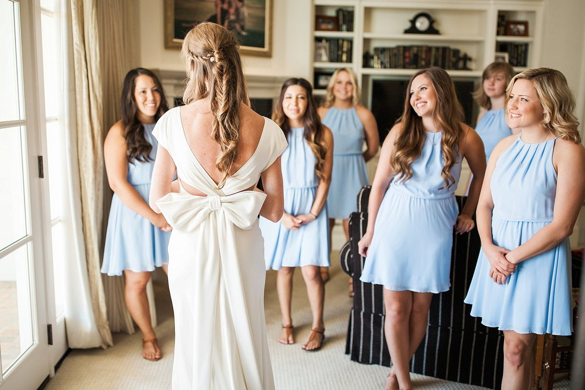 bride and bridesmaids getting ready at private estate arcadia az wedding