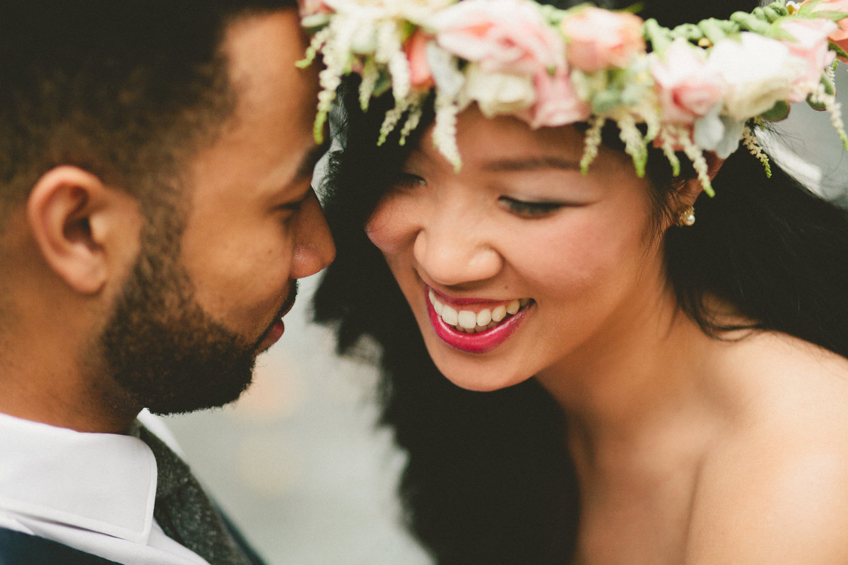 Interracial Couple with Intimate Wedding in Atlanta