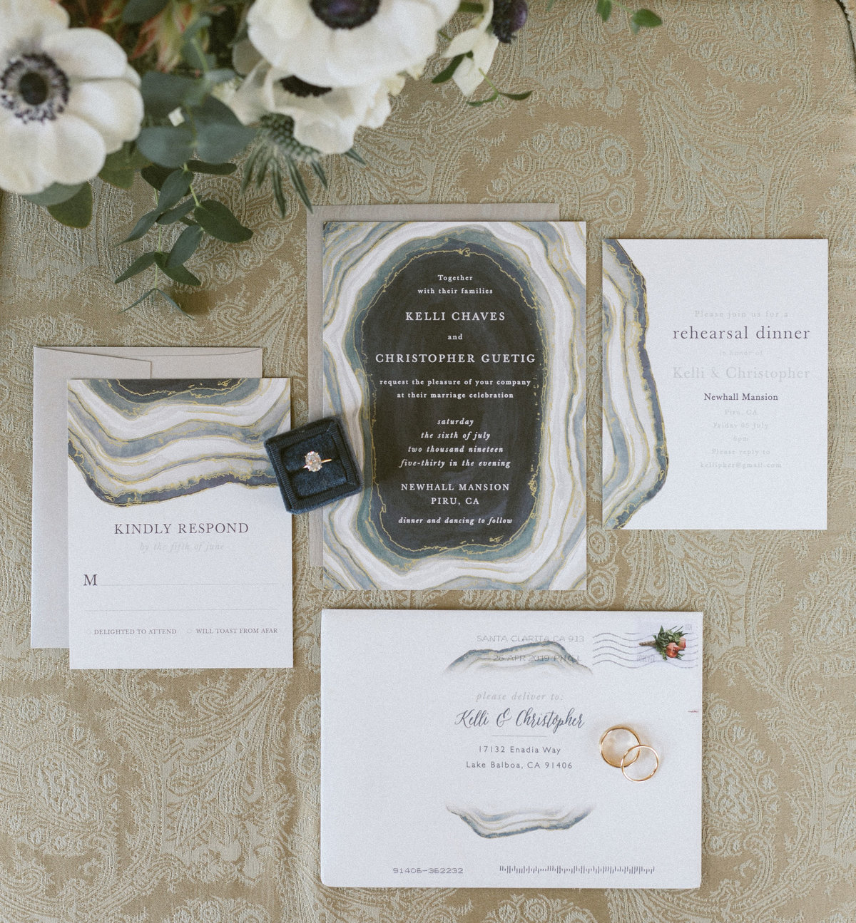 Newhall mansion, invitation suite