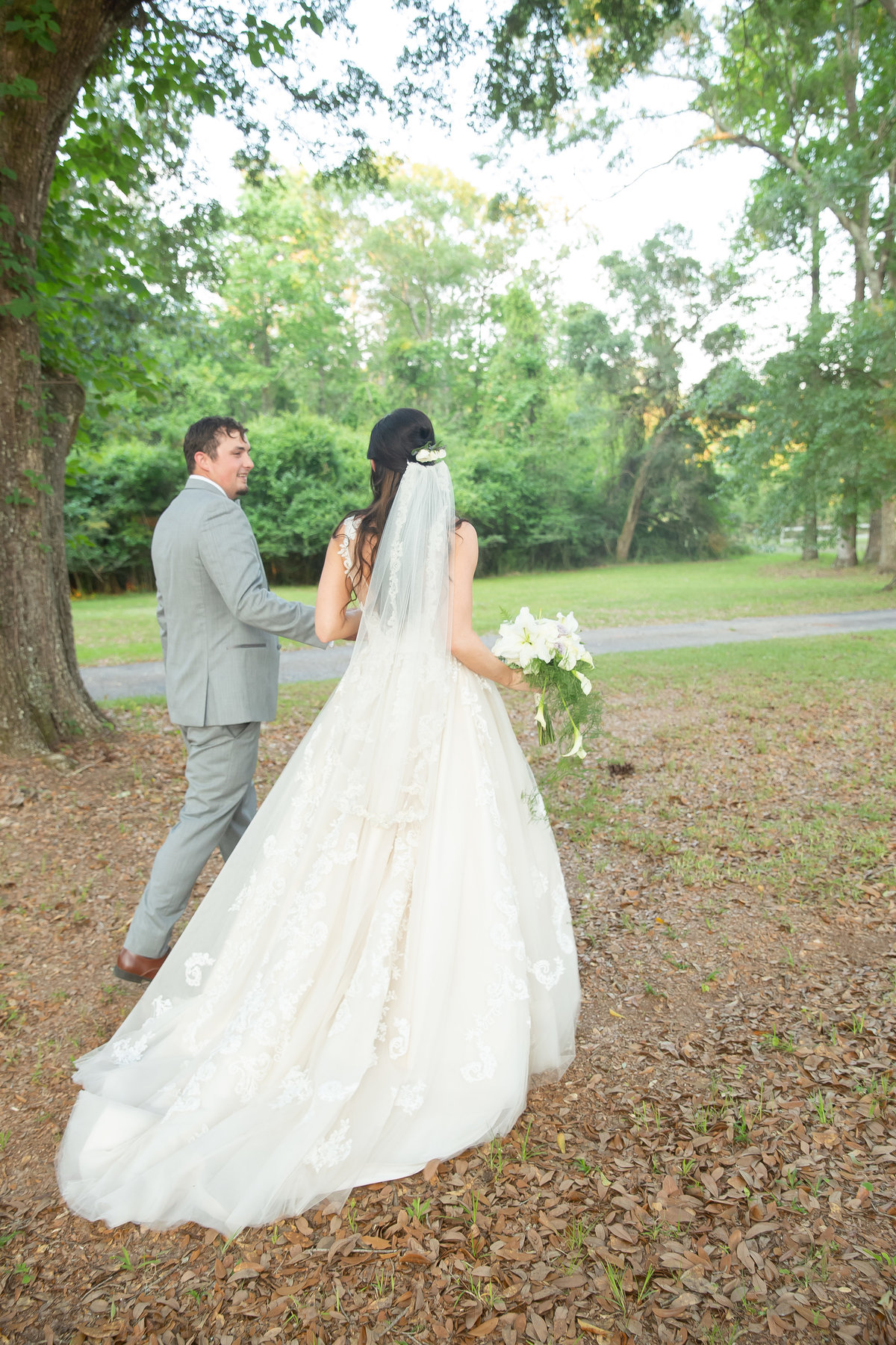 Bride and Groom at Hermitage Rippy Estate in Mobile AL