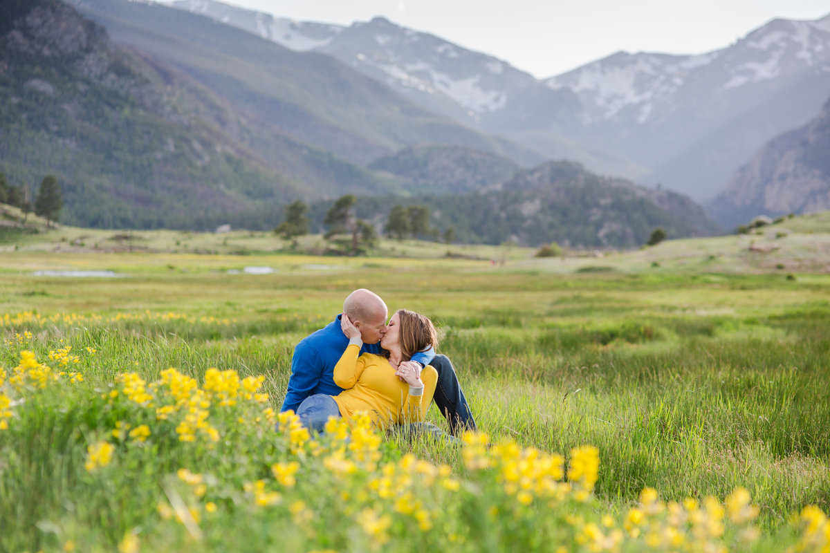 Rocky Mountain National park for beautiful engagement photos