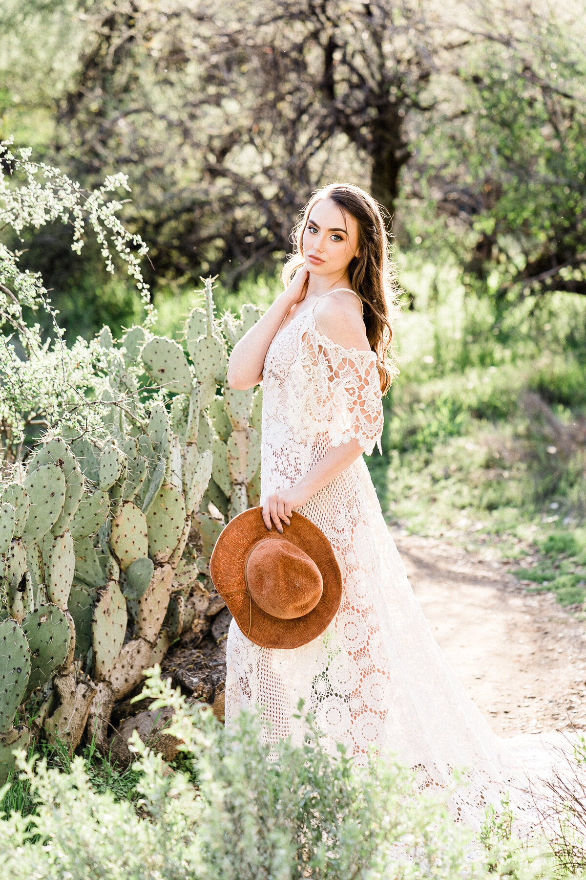 Desert Boho Bridal Photo Session In Phoenix Arizona - Atlas Rose Photography AZ01