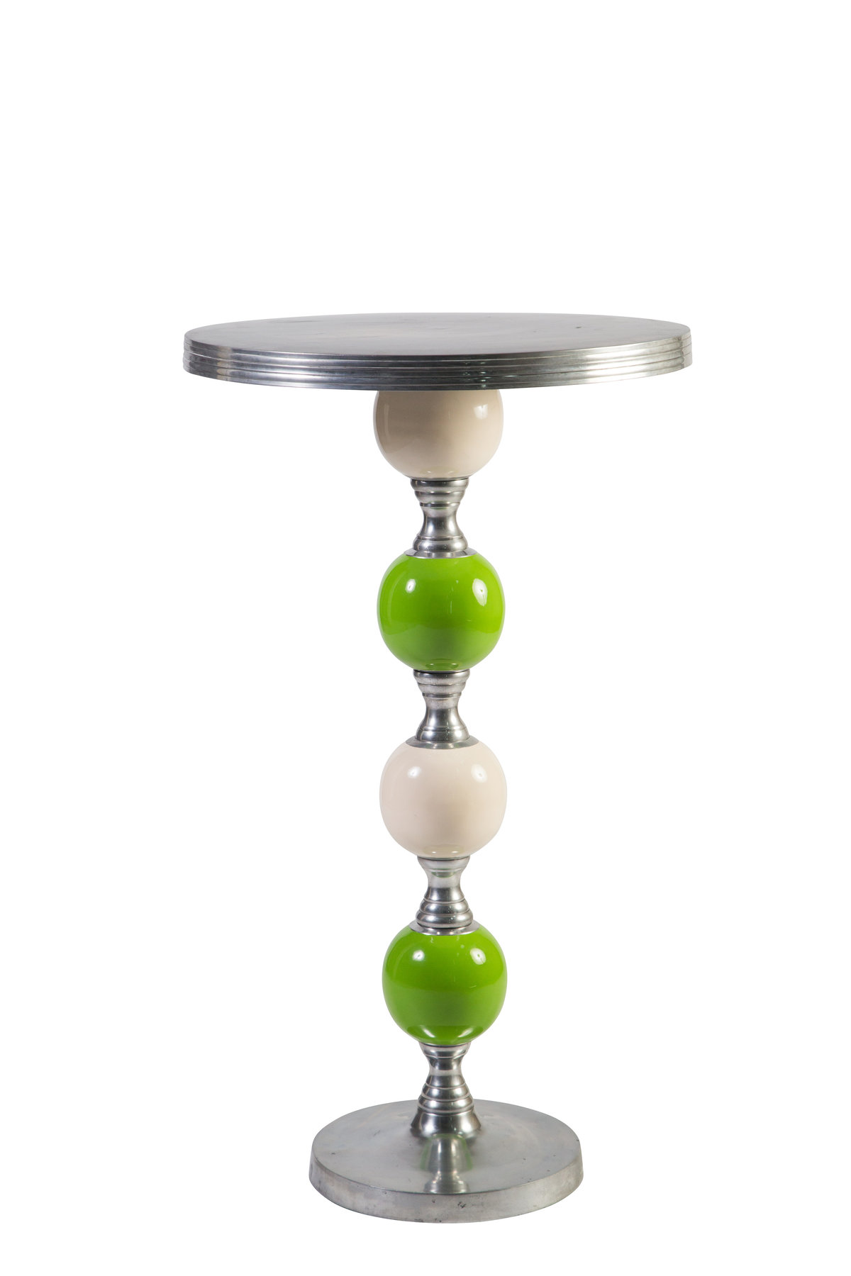 White-Lime Green JOya Highboy Table