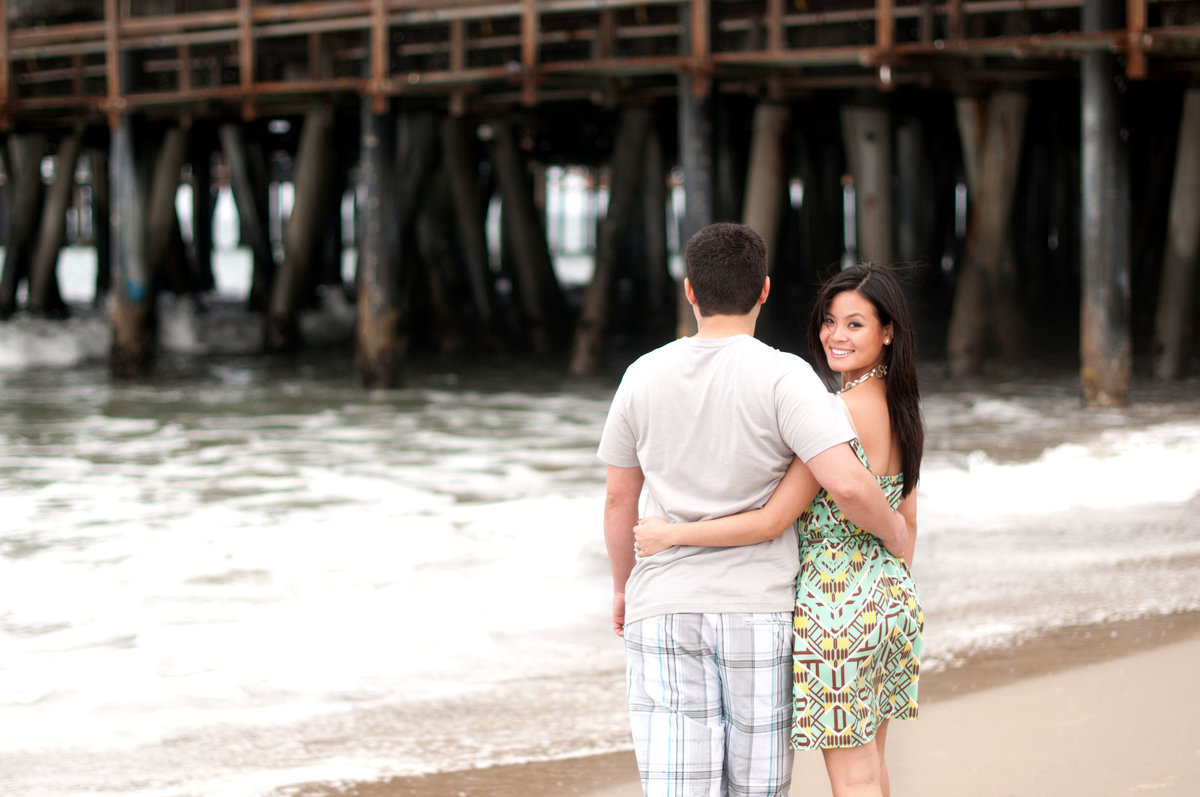 Santa Monica Beach Engagement