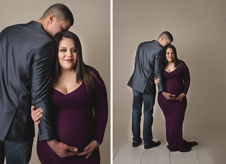 Studio Maternity Photography Session | Couples Maternity Photography Session | Cheshire CT Maternity Photographer