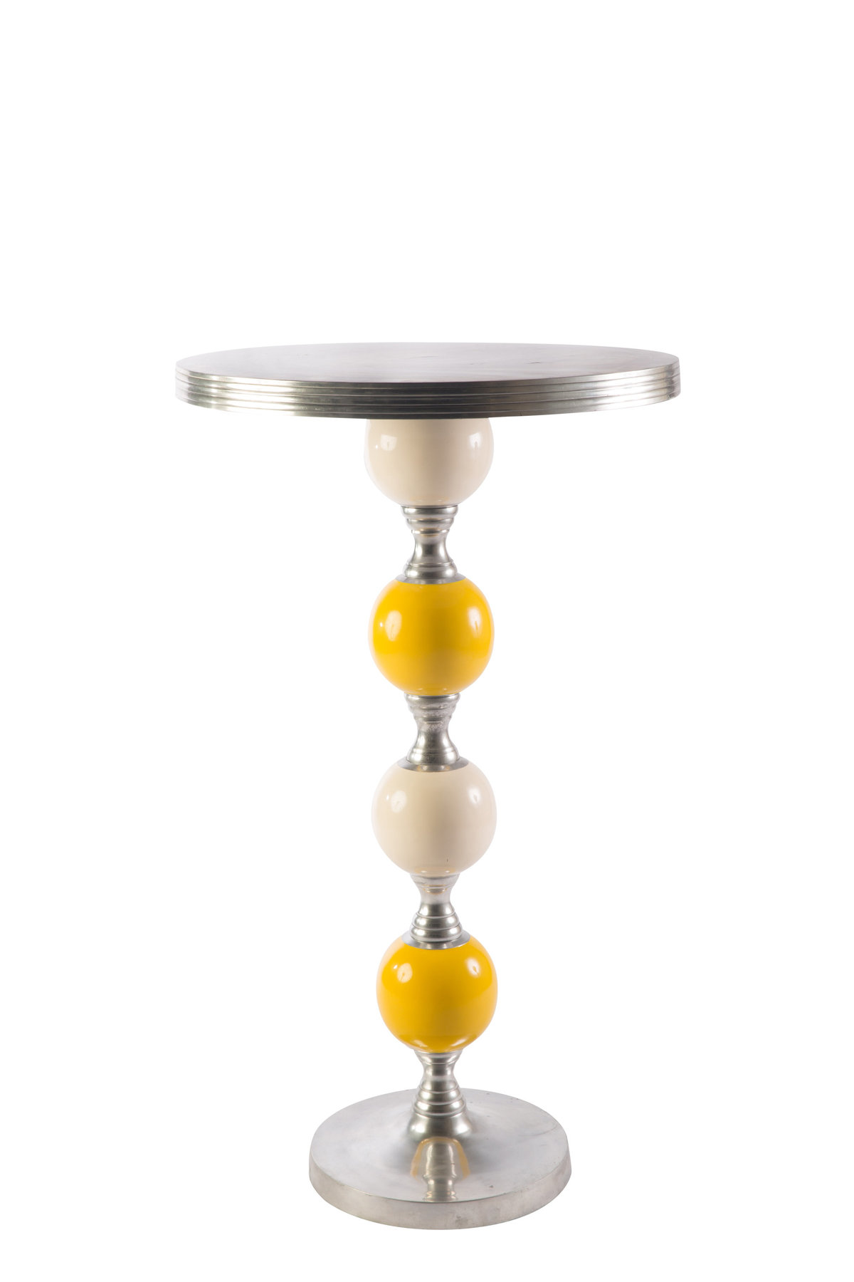 Whiet Yellow Joya Highboy Table
