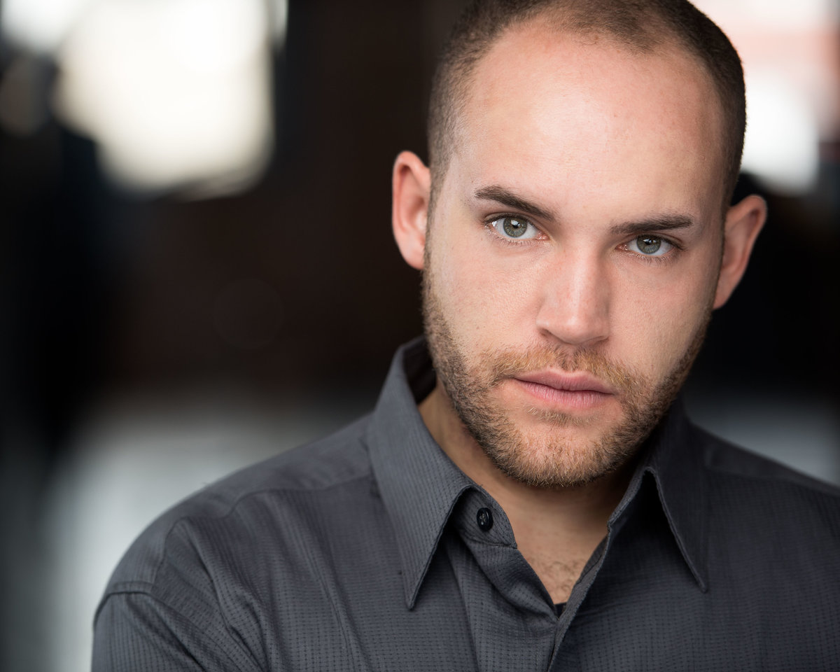 Chicago studio headshot, male actor.