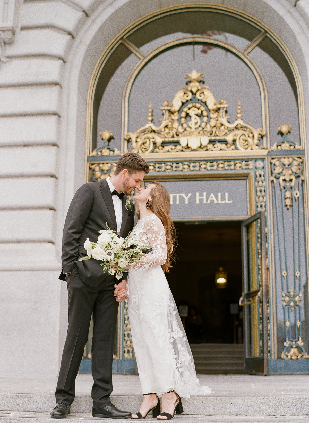 San Francisco City Hall Wedding with Jumpsuit-14