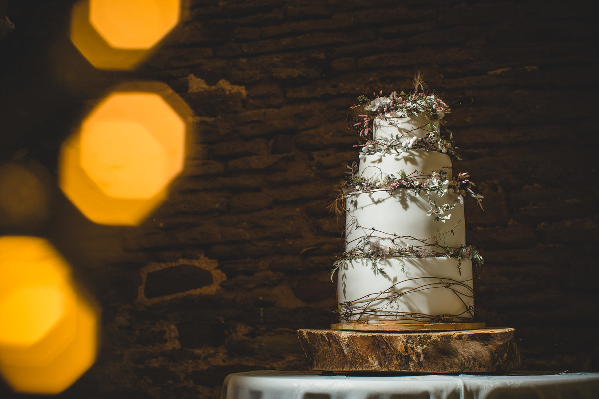 amy swann wedding cake with thorns and thistle crown