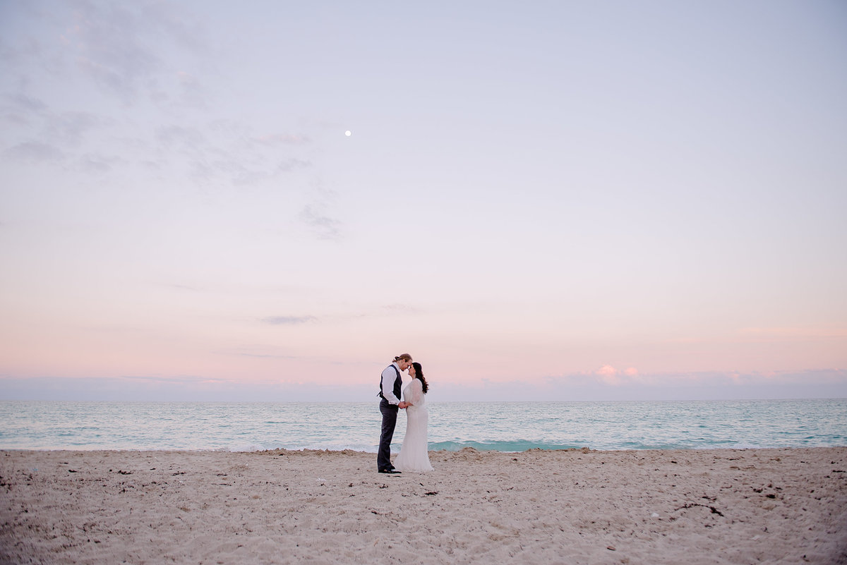 Sunset Wedding Photos at Miami Beach