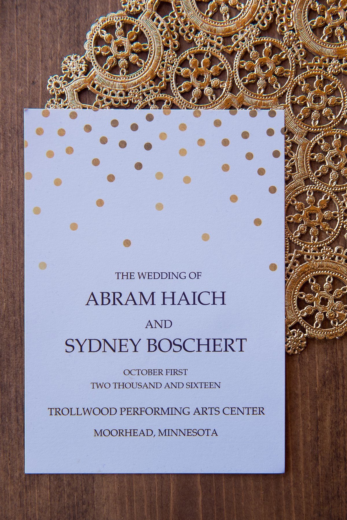 wood and lace modern wedding cards pics by kriskandel