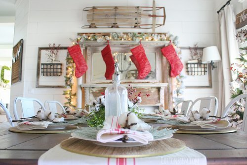 Cotton+Stem+Interiors+farmhouse+dining+room+table+christmas+decor