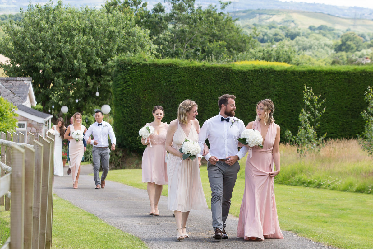 bridal entourage devon wedding