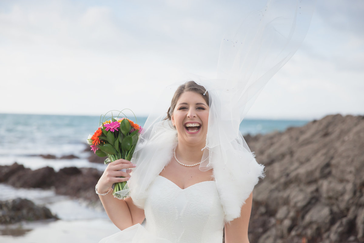 bride at polhawn fort