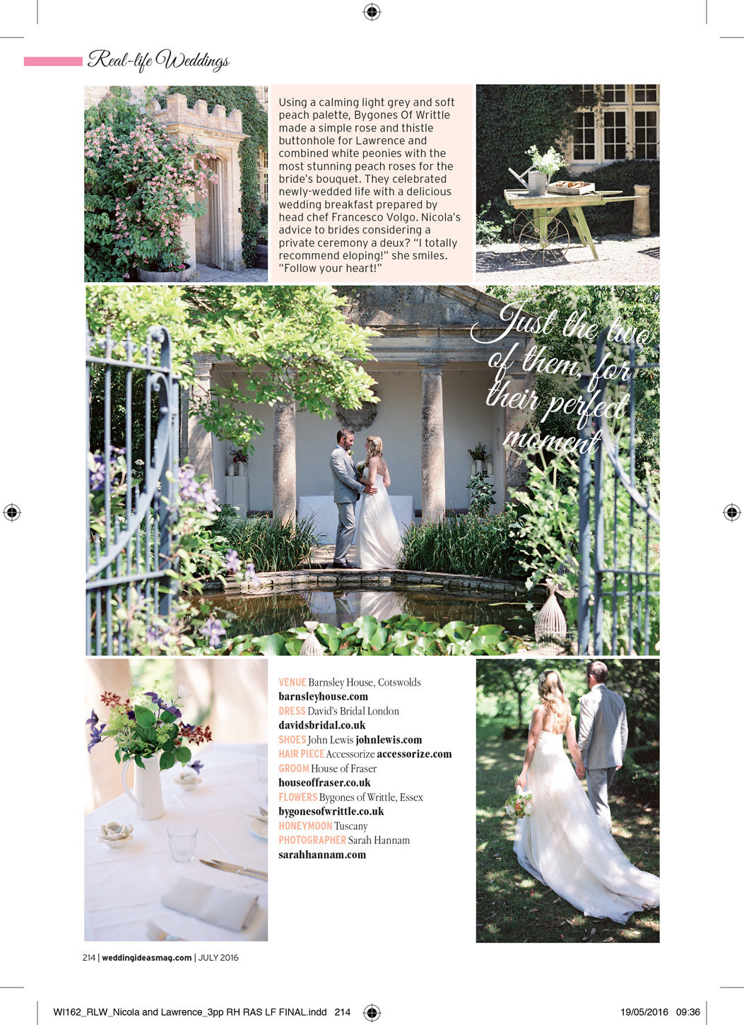 wedding ideas magazine barnsley house wedding
