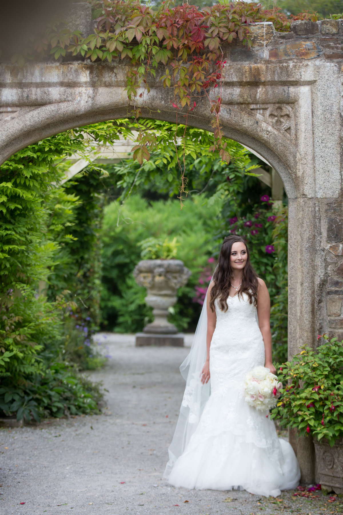 bridal portrait in plymouth