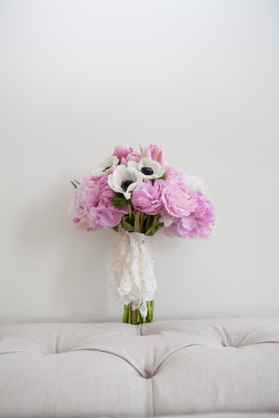 Pink bridal bouquet by Brittany Barclay Photography