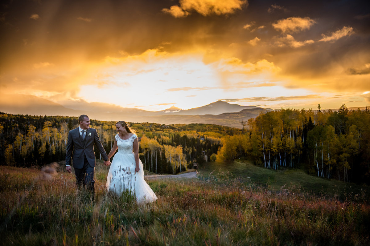 Telluride Wedding Gorrano Venue Sunset