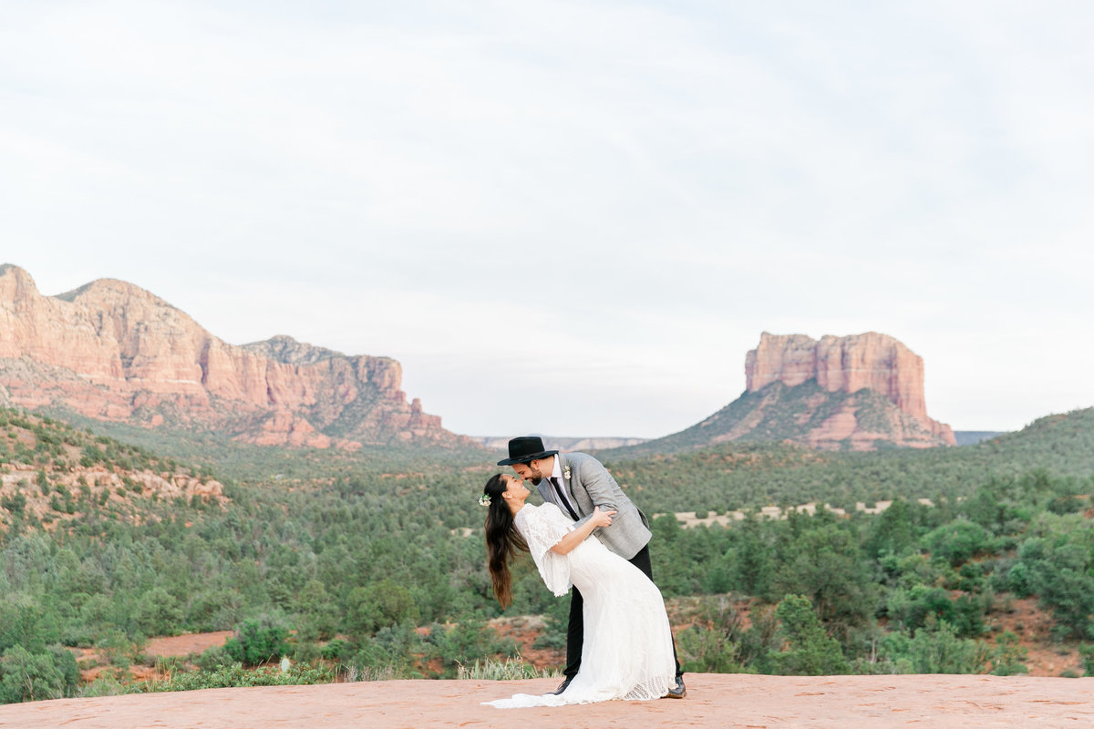 Karlie Colleen Photography - Sedona Arizona Elopement Wedding - Sara & Alfredo-220