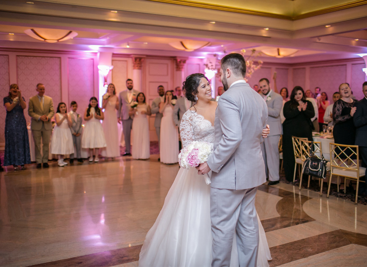 first dance, pink wedding reception, pink wedding reception inspo, ct wedding, ct wedding photographer, ct wedding photography, ct wedding photos, connecticut wedding, connecticut wedding photographer, ct wedding photography, new england wedding photography, new england wedding photographer, new england wedding photos, norwalk ct wedding, norwalk connecticut wedding, wedding day inspo, wedding inspo, lace wedding ballgown, wedding gown, lace wedding gown, lace wedding dress, tulle wedding gown, tulle wedding dress, tulle lace wedding dress, tulle wedding dress inspo, conservative wedding gown, conservative wedding dress, conservative wedding ballgown