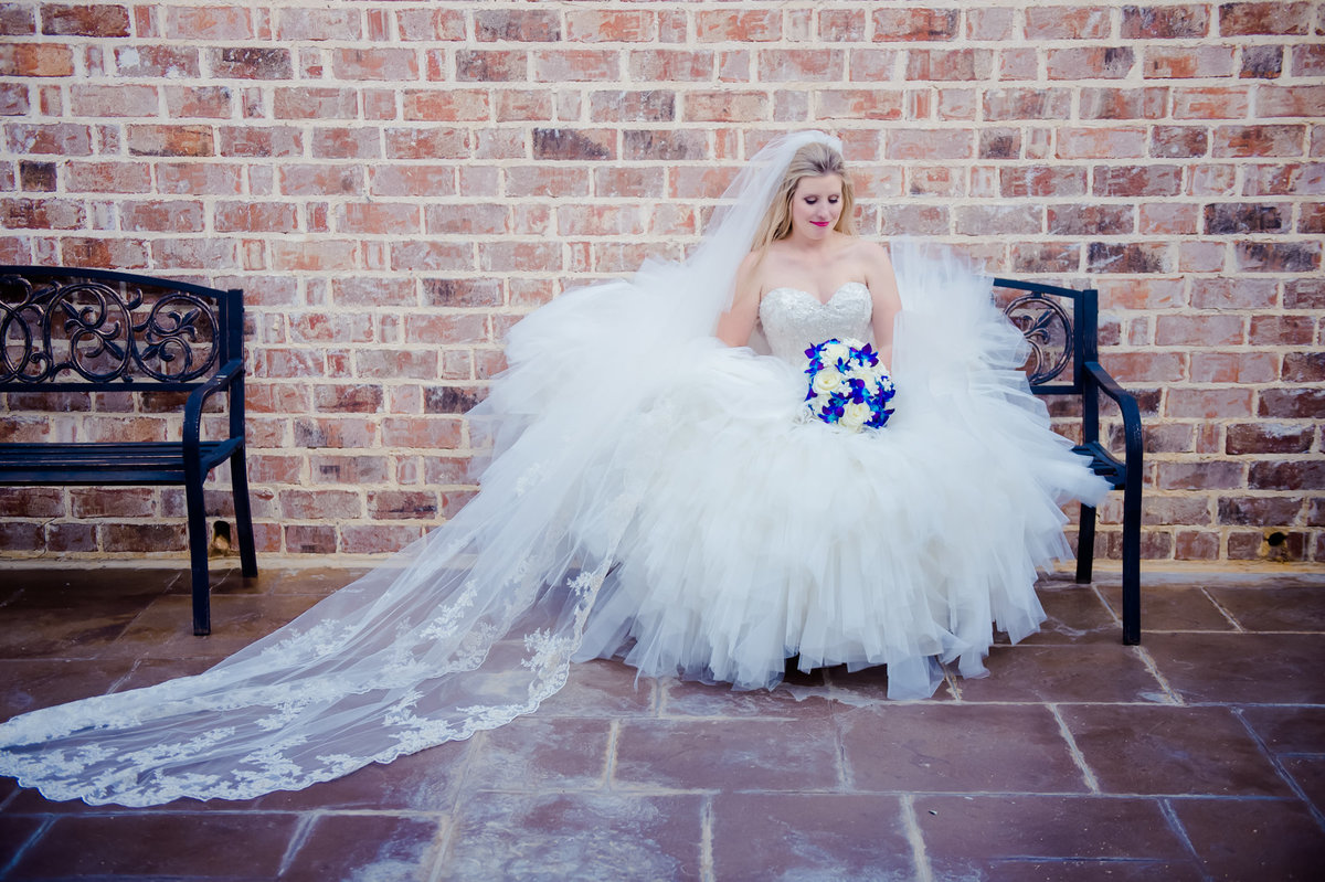 bridal photo at Milestone Aubrey