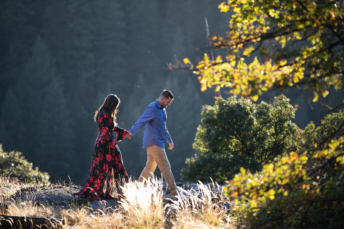 Nevada City, Ca adventure engagement session