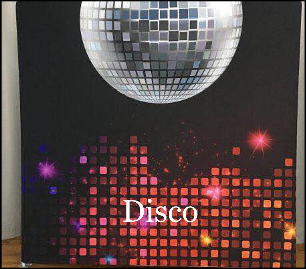 a disco ball photobooth backdrop