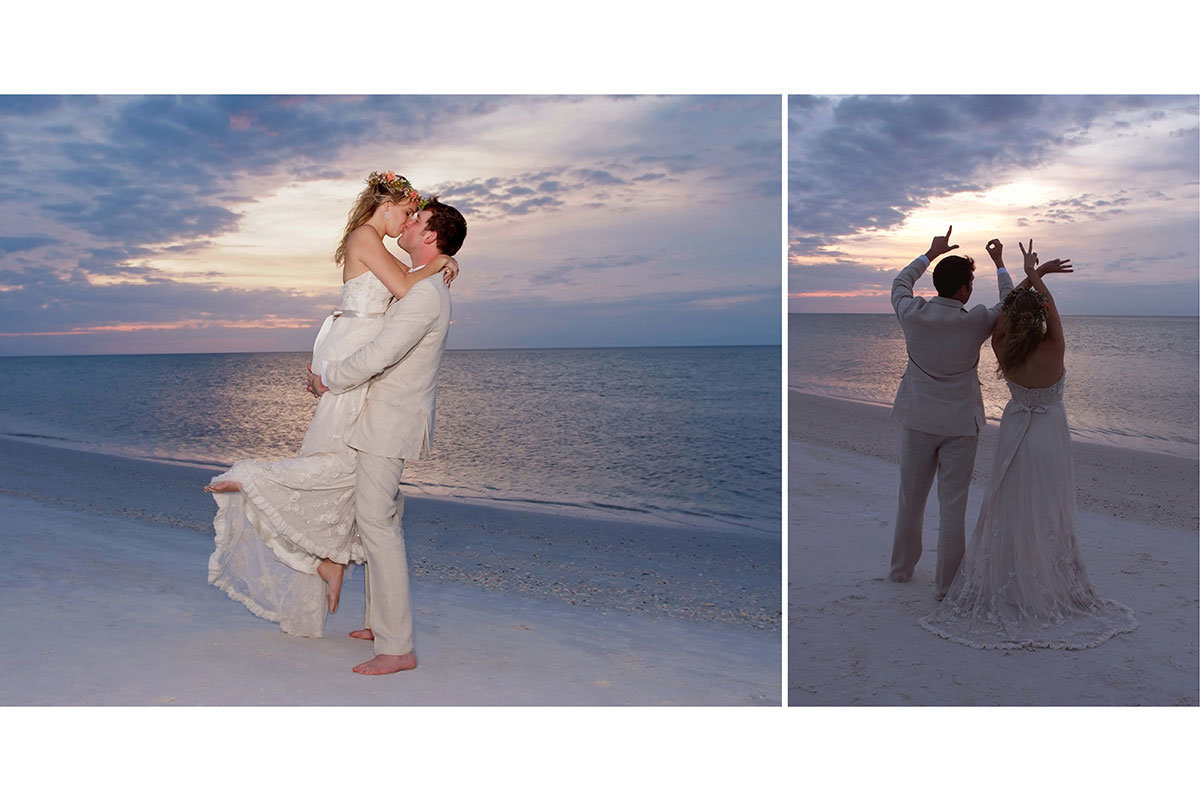 hyatt coconut point sunset wedding photo florida