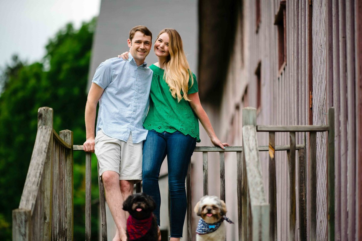 34 engagement photos with dogs for cape cod wedding photographer