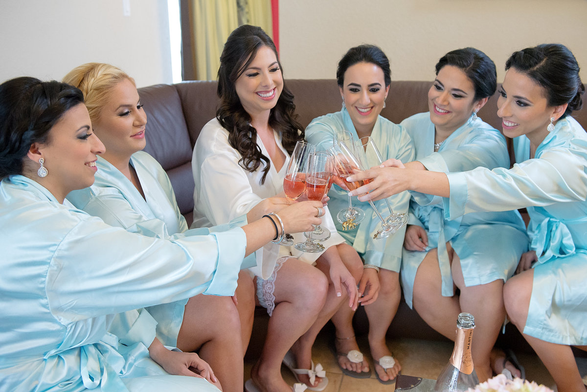 Bridesmaids cheering Makeup by Lauren Elvi Villalobos