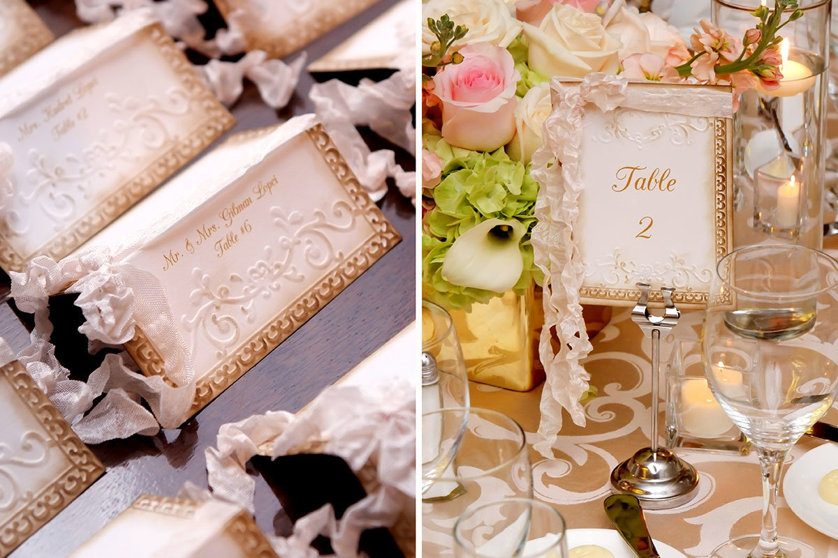 ritz carlton naples florida vintage placecard and table numbers