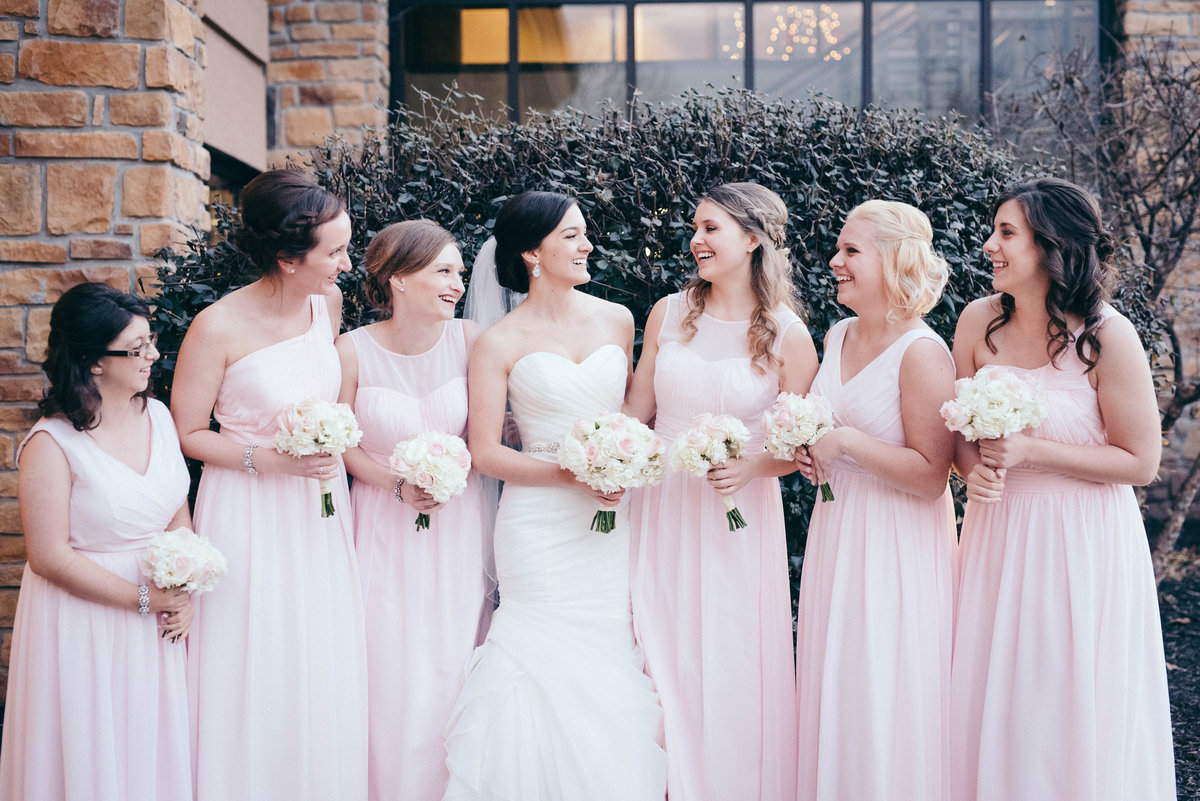 The sweetest bridesmaids at this church wedding
