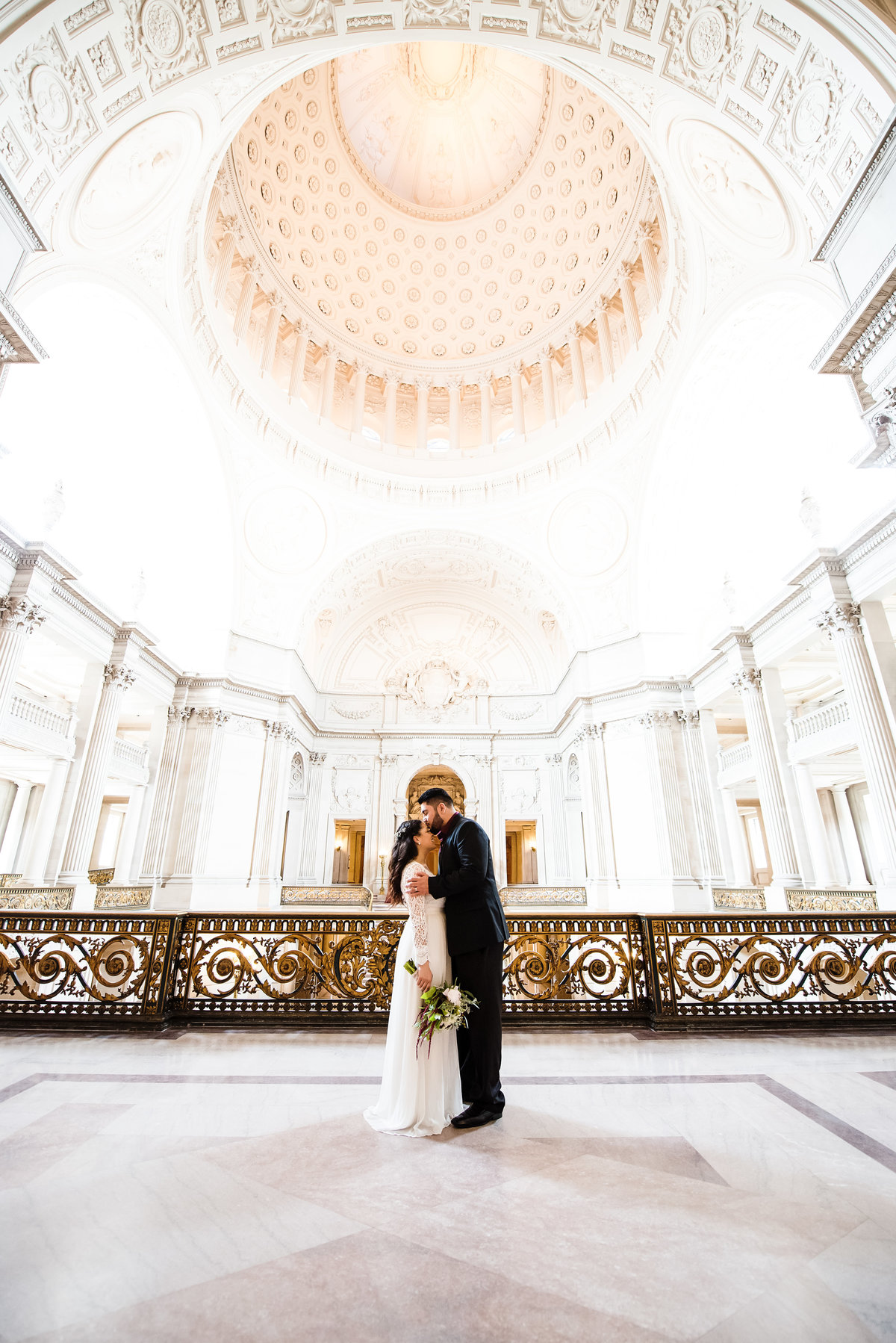 Beautiful San Francisco City Hall elopement with Chidi and Sal