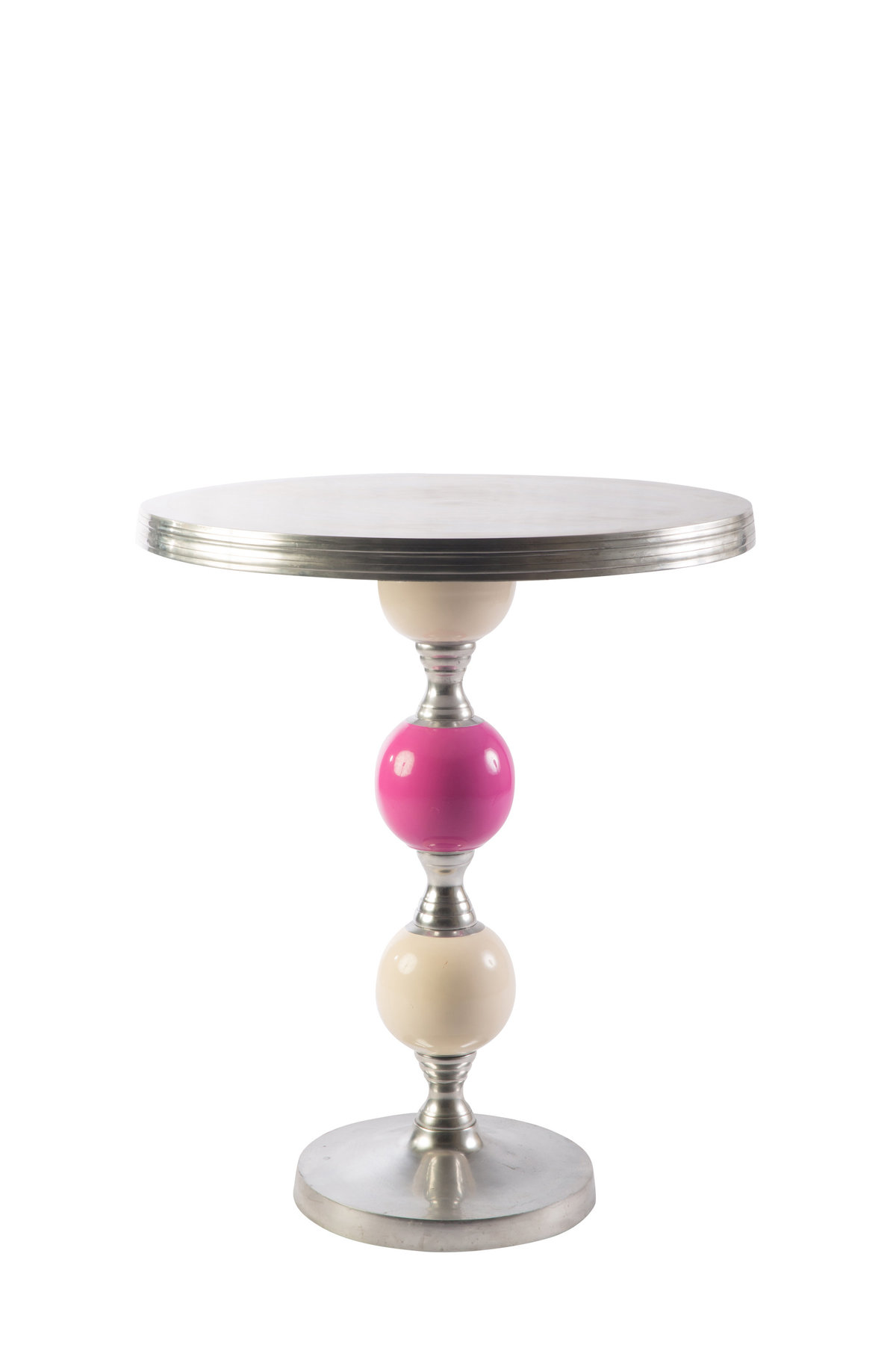 White Fucsia Cocktail Table