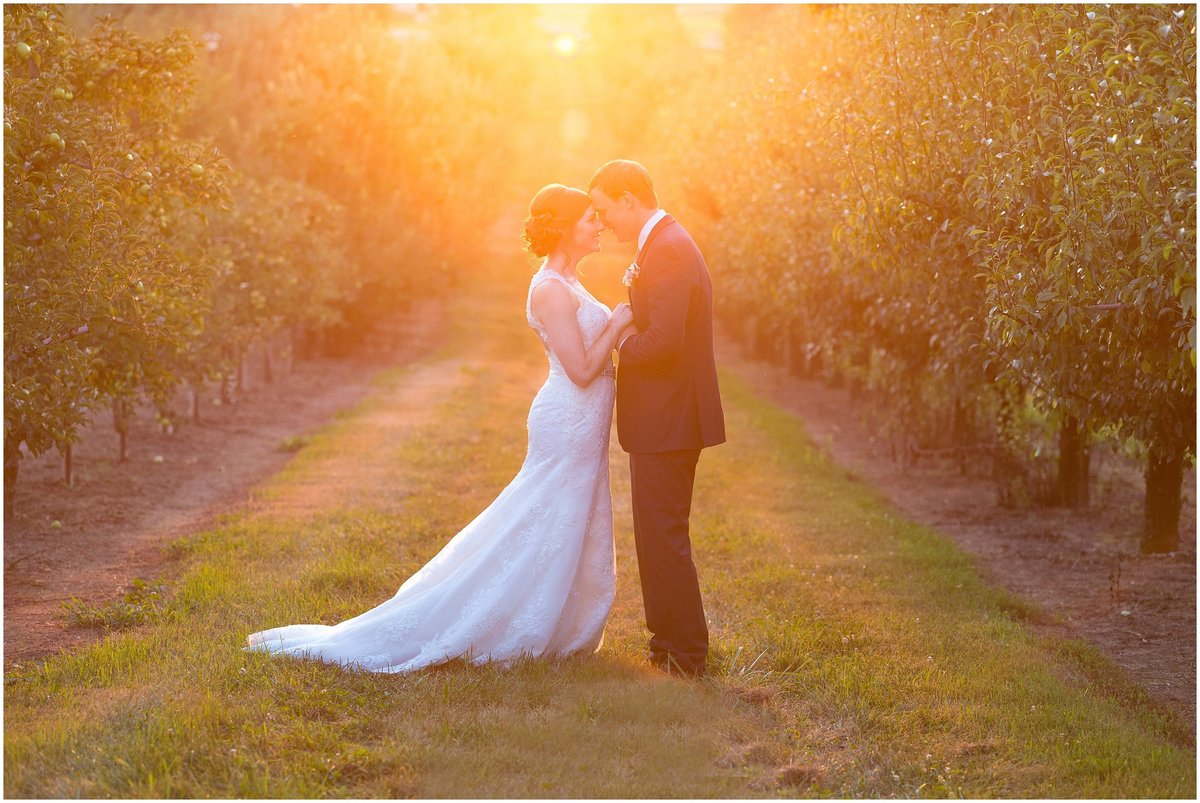 Summer Wedding at Evan's Orchard in Georgetown, Kentucky on July 23, 2016.