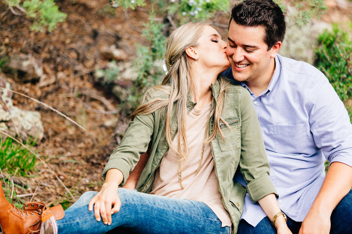 Lunabear Studios - Payson Arizona Engagement Session - Forest Engagement Session-2