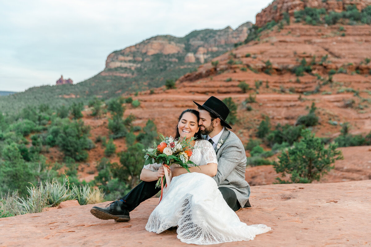 Karlie Colleen Photography - Sedona Arizona Elopement Wedding - Sara & Alfredo-313